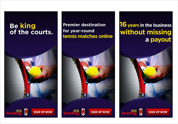 tennis advertising banner