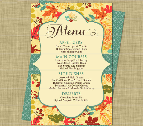 thanksgiving dinner party menu