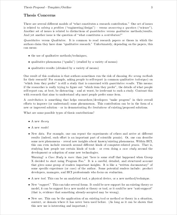 Lovely Thesis Outline In PDF