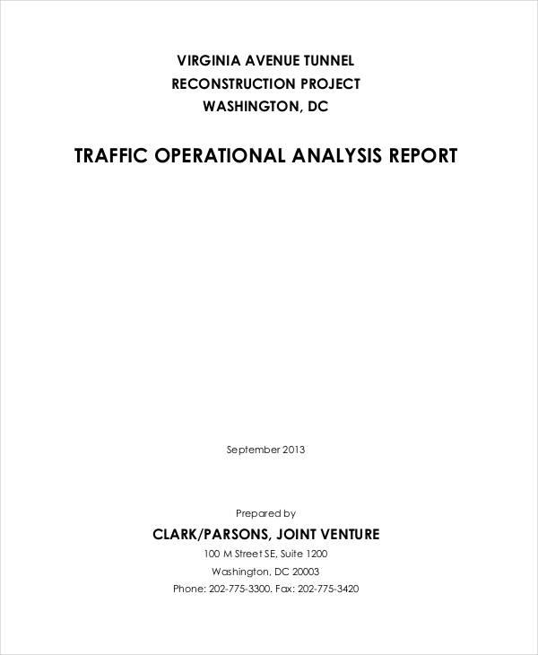 traffic operational analysis