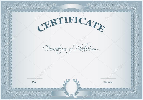 training certificate design