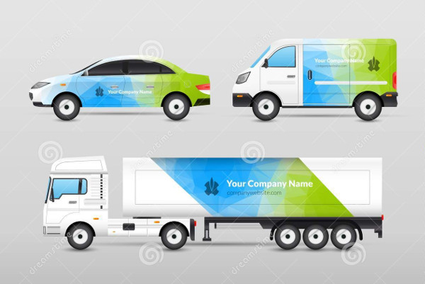 transport truck advertisement design
