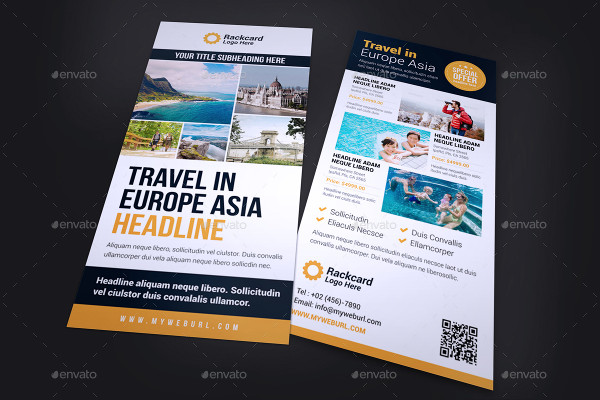 travel agency rack card
