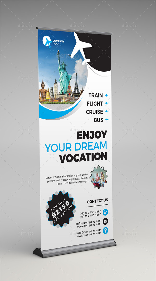 32 Roll Up Banner Designs Amp Examples Psd Ai Vector