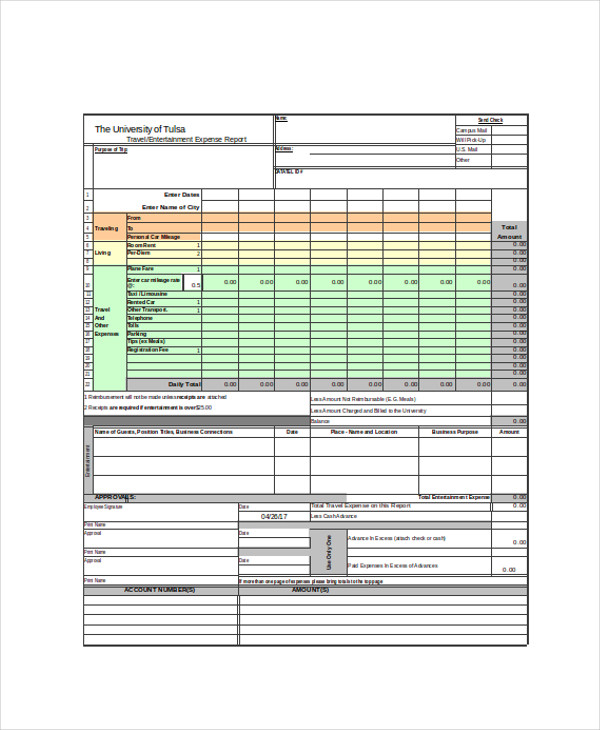travel expense report form1