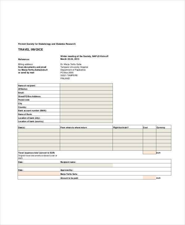 Invoice Examples In Word
