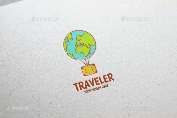-Travel Logo Design Template