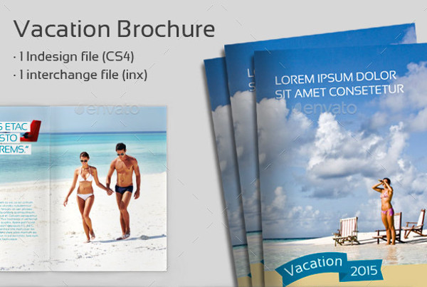 travel vacation brochure