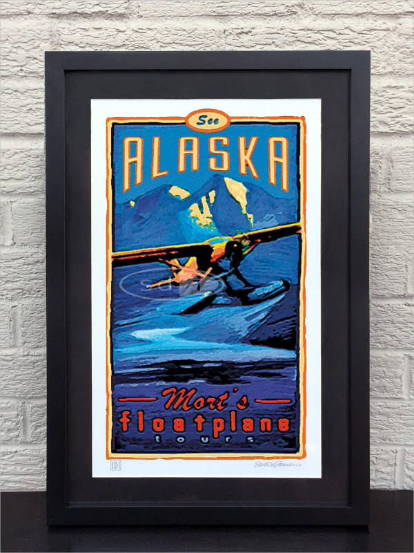 vacation travel poster