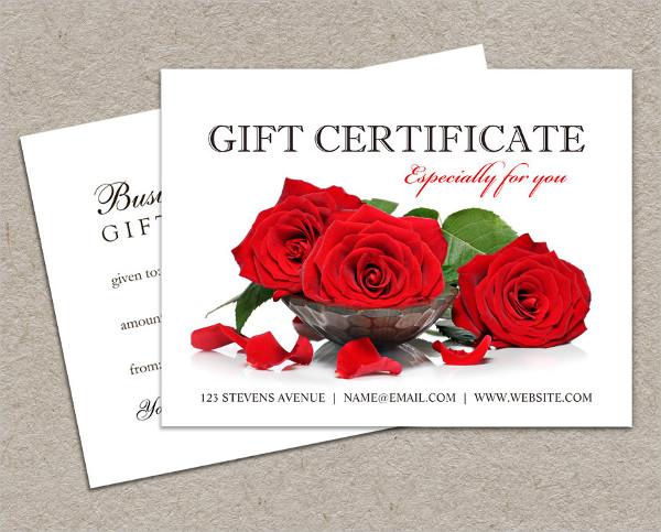 valentine gift certificate