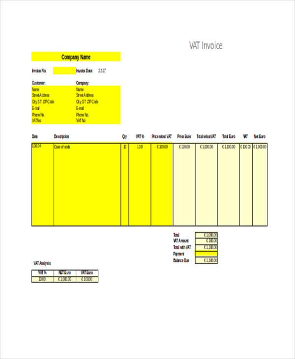 vat invoice