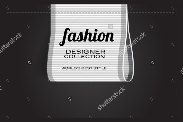 vector fashion label design