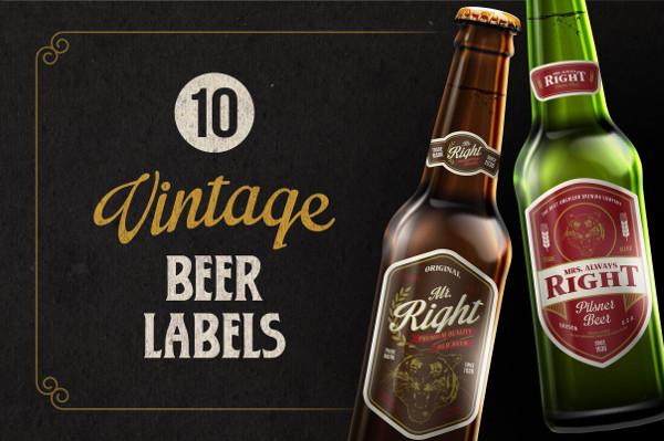 -Vintage Beer Label Design