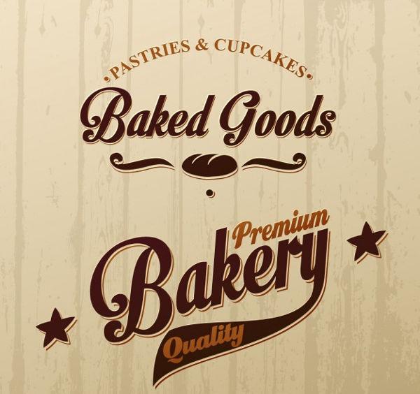 vintage cake shop logo