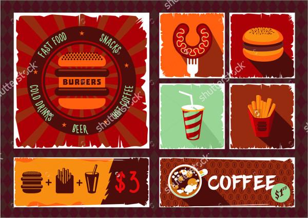 vintage fast food banner