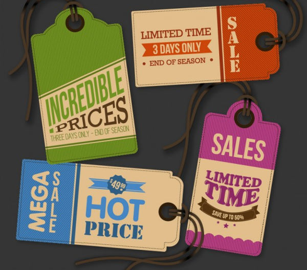 vintage hang tag vector