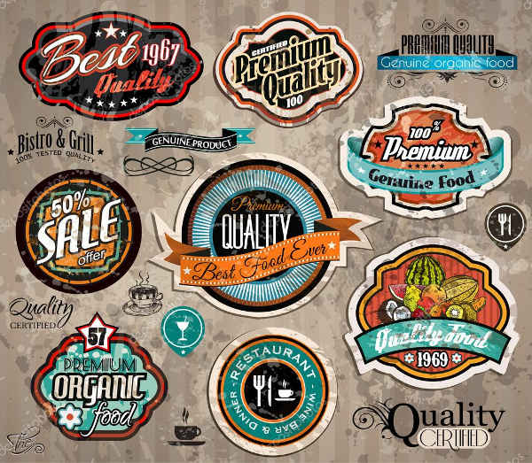 vintage label vector