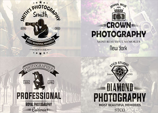 vintage photography logo design