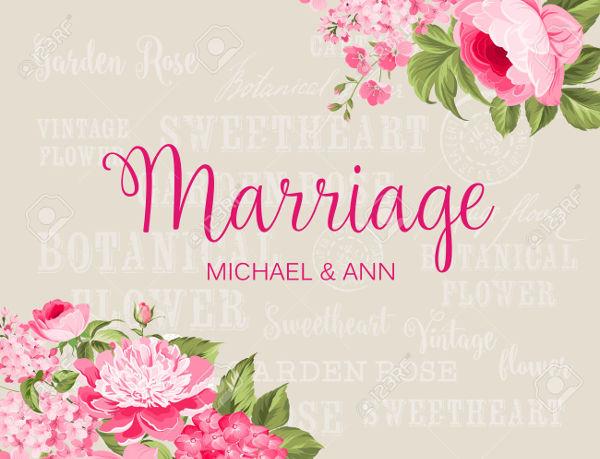 -Vintage Wedding Label