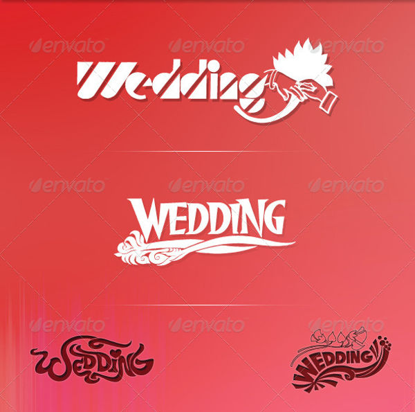 vintage wedding logo vector1
