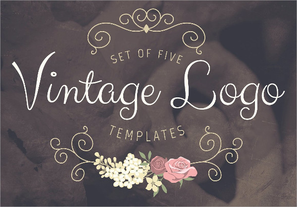 vintage wedding logo in psd