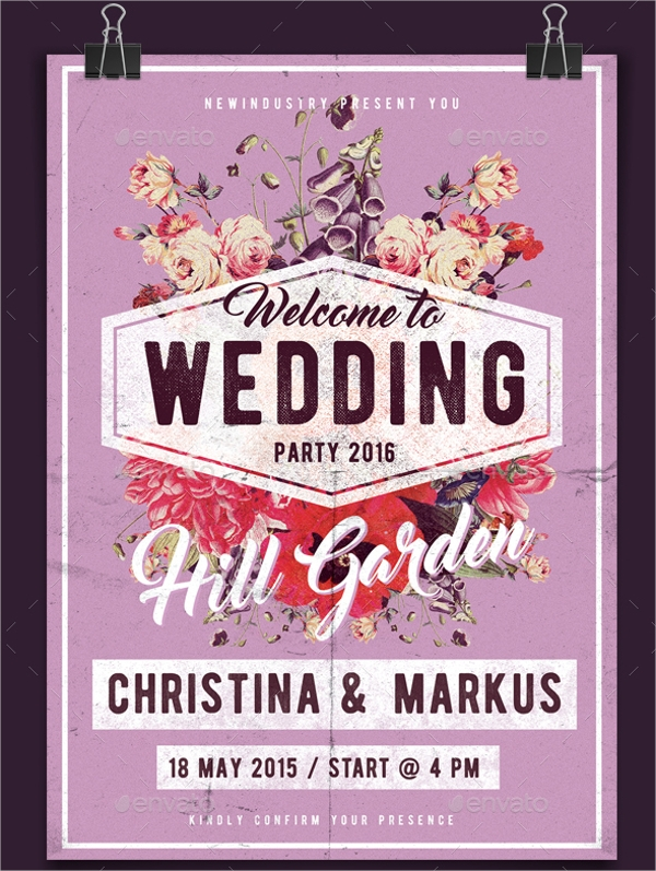 vintage wedding poster design1