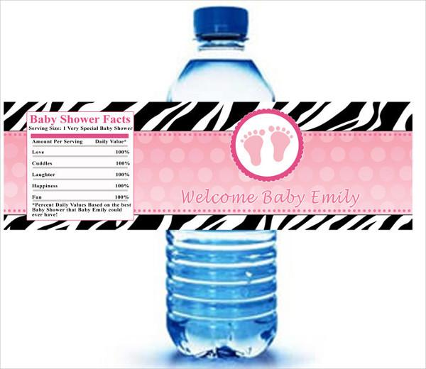 -Water Bottle Label