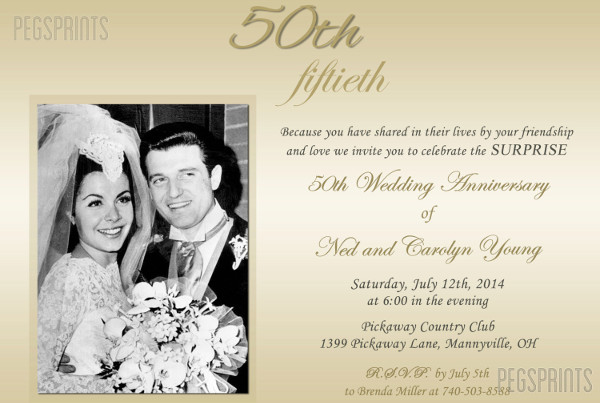 -Wedding Anniversary Invitation