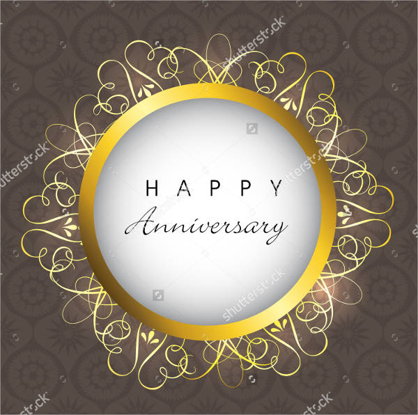 wedding anniversary poster design