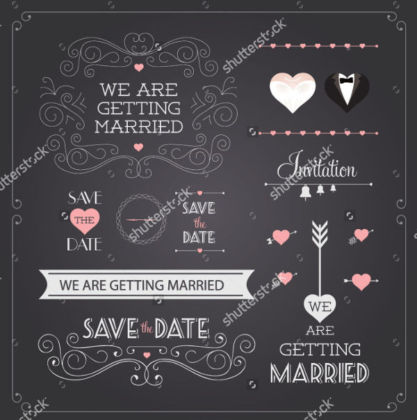 wedding banner vector design