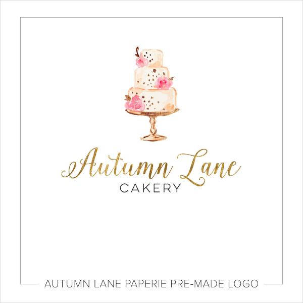 wedding cake business logo