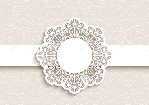 wedding card label