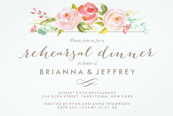 -Wedding Dinner Invitation