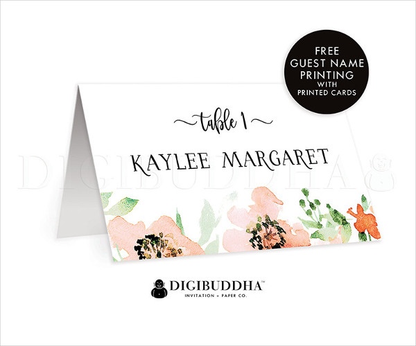 wedding dinner name card