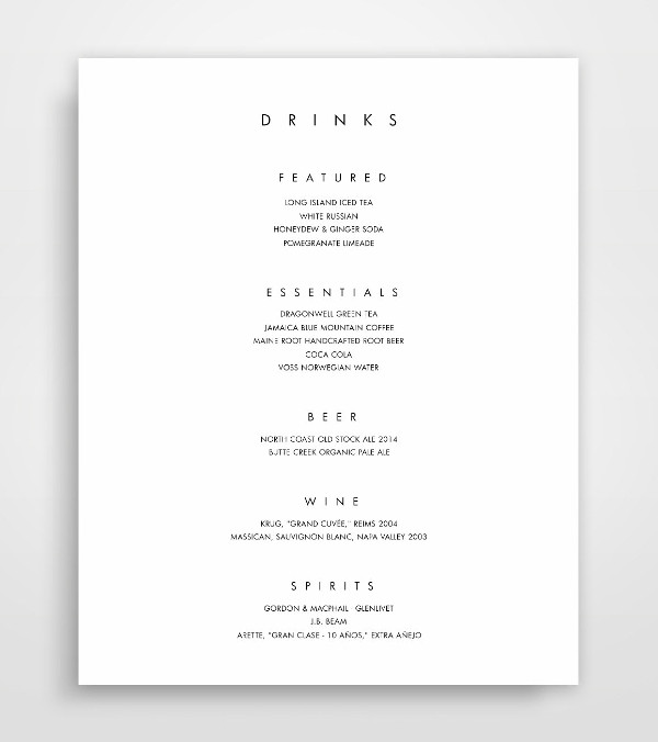 wedding drink menu1
