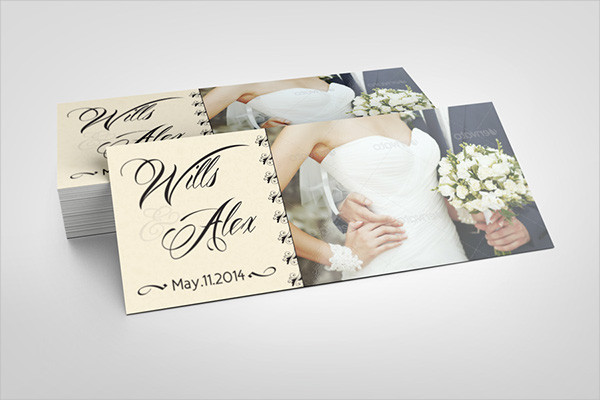 wedding party rack card