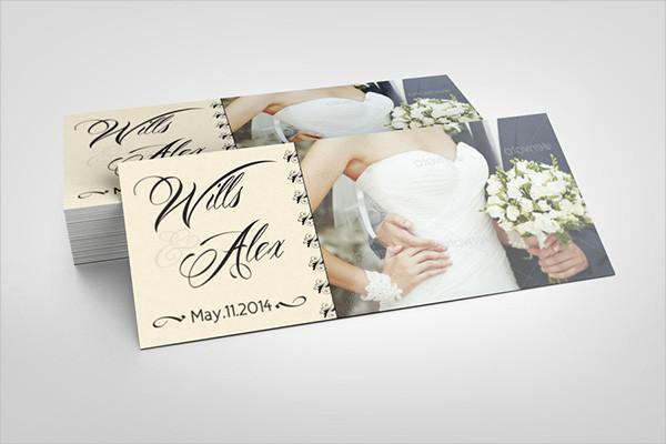 wedding party rack card