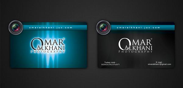 Wedding Photographer Name Card