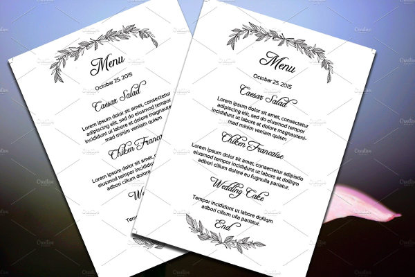 23 examples of wedding menus ai psd google docs