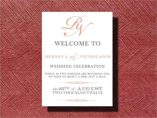 wedding reception poster design1