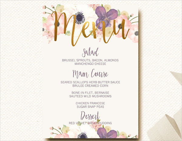 wedding shower dinner menu1