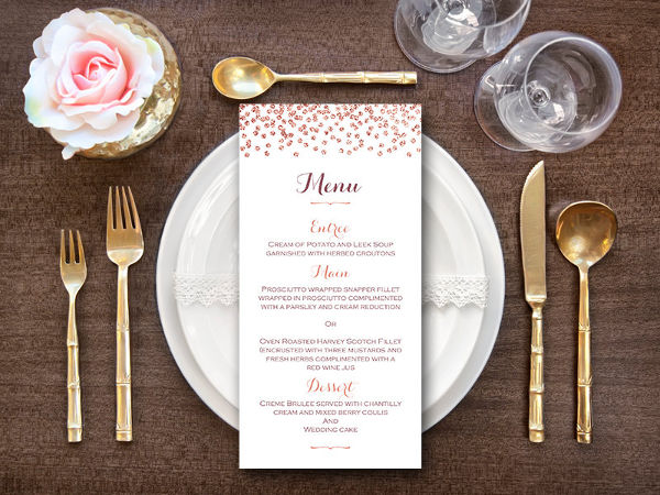 wedding shower food menu