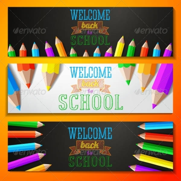 welcome banner vector design