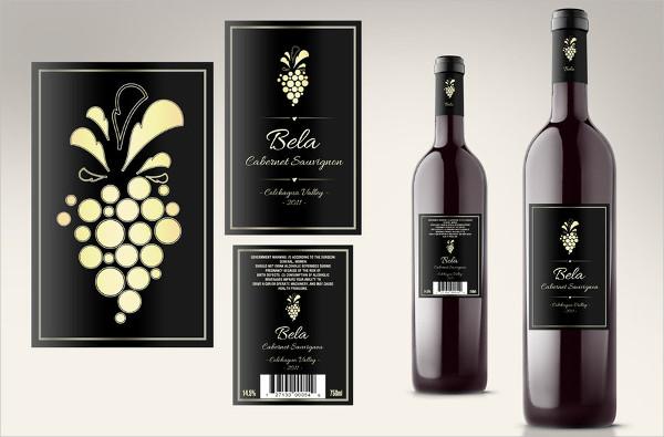 -Wine Bottle Label