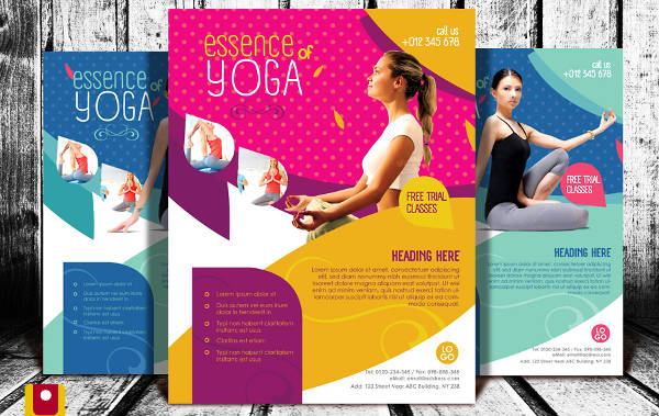 yoga fitness advertising
