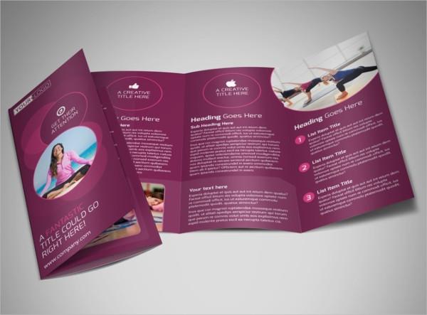 yoga fitness brochure