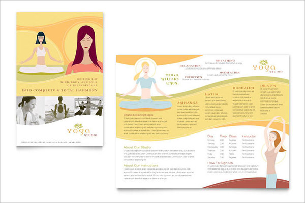 yoga instructor advertising design