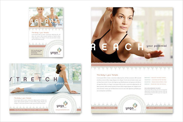 yoga training advertising design