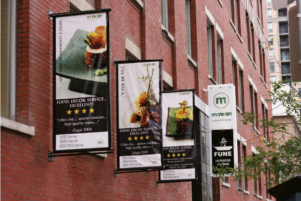Advertising Restaurant Hanging Banner
