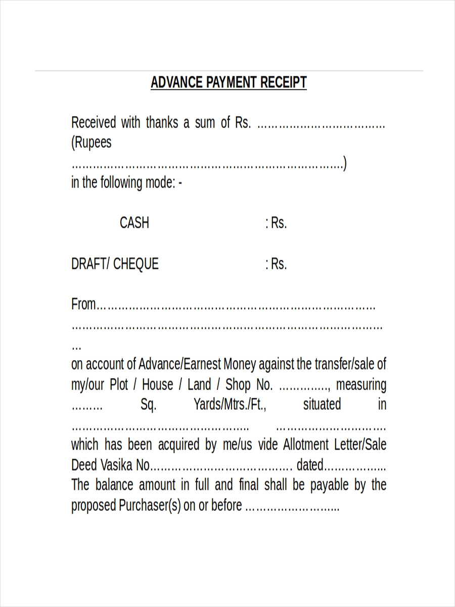 advance payment receipt2